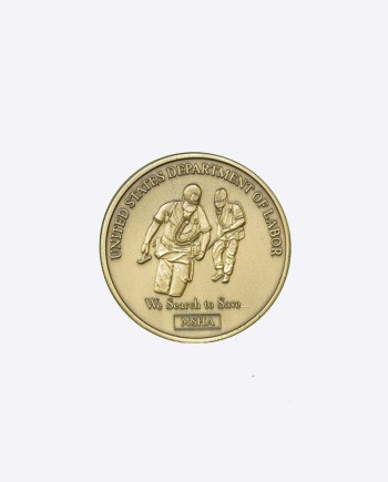 памятная медаль международного конкурса горноспасателей 1999-2000 гг., США, MSHA