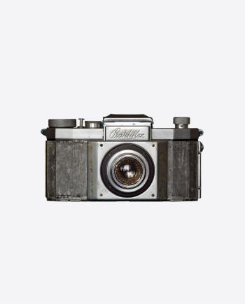 Зеркальная камера Рraktiflex с объективом Victar Anastigmatic 5 cm f/2.9, Германия, 1940-е гг.