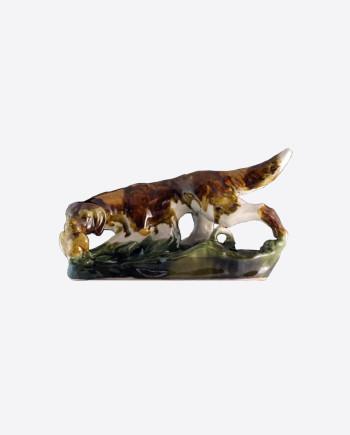 Фарфоровая статуэтка Собака с дичью, ВМЗ, 1960-е гг., СССР