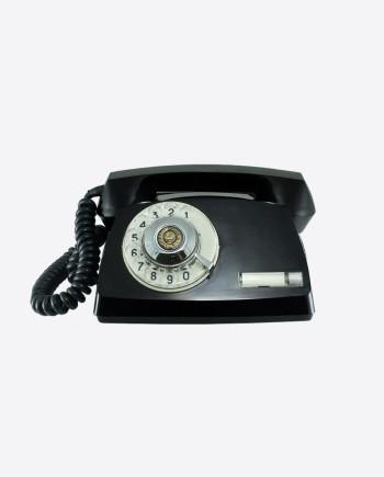 Телефон СТА-2 с гербом СССР на номеронабирателе, 1986 г.