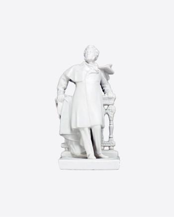 "Статуэтка ""А.С.Пушкин"", бисквит, ПЗХК, УССР, 50-60-е гг."