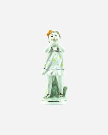 """Статуэтка """"Ау! (Потерялась)"""", О.Жникруп, фарфор, Полонский ЗХК, УССР. Клеймо 1956-72 гг."""